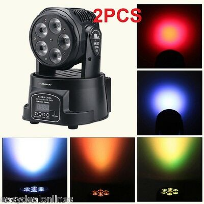2× 100W LED Moving Head Light DMX512 10/15CH Stage Bar DJ Lighting Auto Rotating