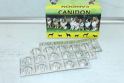 1-1000 Tablets Canidon Dog Dewormer Wormer Very Effective English leaflet