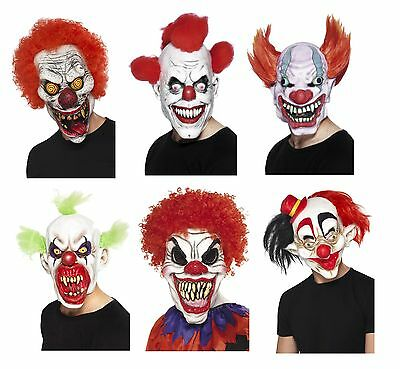 Scary Clown Evil Masks Halloween Latex Horror Unisex Fancy Dress Accessory Adult
