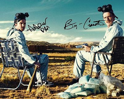 Breaking Bad BRYAN CRANSTON AARON PAUL Signed 8X10 Photo Rp Walter White Jesse