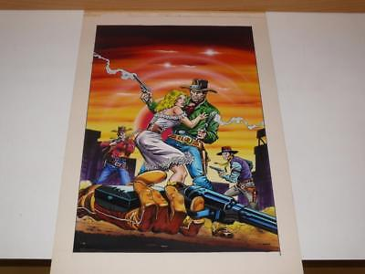 Original Artwork ~'Western Theme' Computer Game Illustration~Bob Wakelin Artwork
