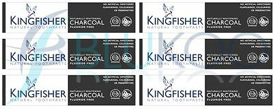 Kingfisher Charcoal Naturally Whitening Natural Toothpaste - 100ml (Pack of 6)
