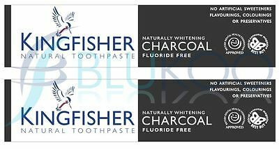 Kingfisher Charcoal Naturally Whitening Natural Toothpaste - 100ml (Pack of 2)