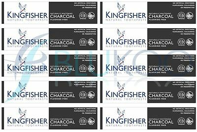 Kingfisher Charcoal Naturally Whitening Natural Toothpaste - 100ml (Pack of 10)