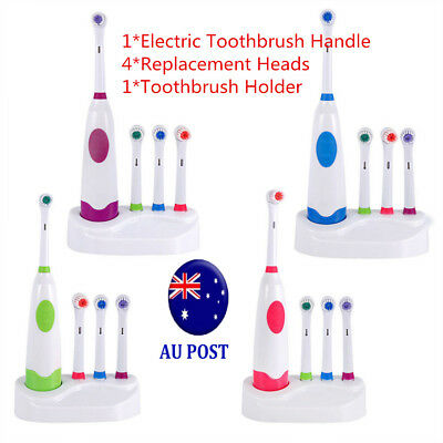 Oral Care Tooth Brush Teethbrush Electric Toothbrush+4 Replacement Brush Heads M