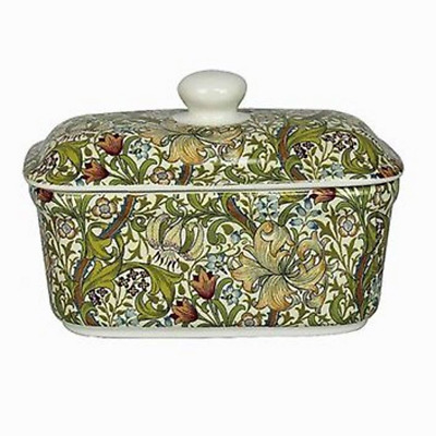 William Morris Golden Lily Fine China Butter Dish #LP92677