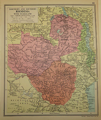 Map of Northern & Southern Rhodesia with Nyasaland by George Phillip