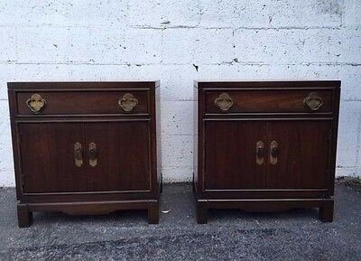 Pair of Large Hollywood Regency Nightstands / End Tables 6758