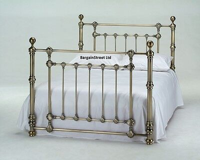 New Luxury Double 4'6ft Brass Bed Frame Bedstead