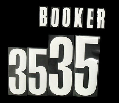 NBA Official Lettering ''BOOKER 35'' Brooklyn Nets Road Adult Name & Number Set