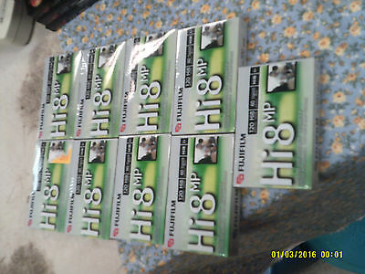 9 New Fujifilm Hi8 Mp 120 Hi 8 Digital 8 Camcorder Tapes Video Pro p6-120