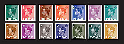 Limited Edition complete set of Edward VIII definitive stamps reproduction