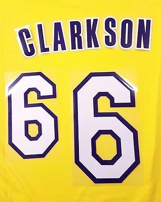 "NBA Lettering ""CLARKSON 6 "" Lakers Home Adult Name & Number Set Loose Letters"