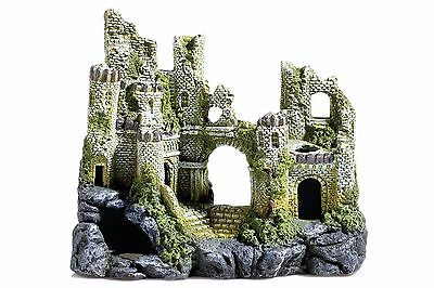 Large Ancient Castle Ruins Aquarium Decoration Fish Tank Cave Ornament