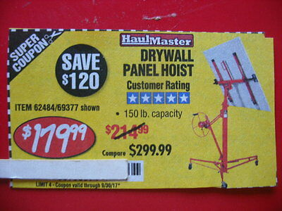 HARBOR FREIGHT SAVE $120 ***COUPON***FOR drywall panel hoist