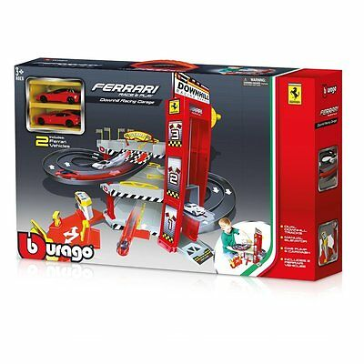 Burago - Ferrari Race & Play - Downhill Racing Garage - Nuovo - [*c]