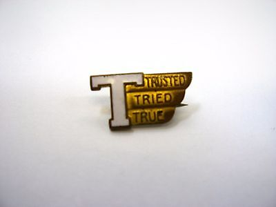 Antique Vintage Collectible Pin: T Trusted Tried True