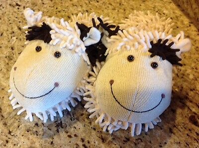 Aroma Home Fuzzy Friends -House Slippers Sheep- Fun For Feet- Women's M 7/8 NWT