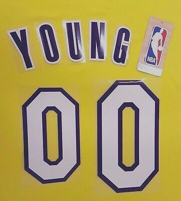 "NBA Lettering""Young 0"" Lakers Home Adult Name & Number Set 2013-17 Loose Letters"