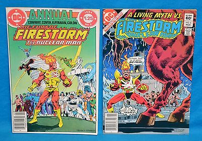 Lot of 2 DC Comics The Fury of Firestorm The Nuclear Man #2 Annual 1984 #6 1982