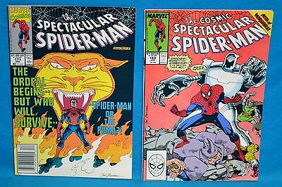 Lot of 2 Marvel Comics The Cosmic Spectacular Spider-Man #160 #171 1990