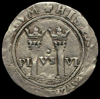 1542-55 Mexico Colonial Silver Coin 1 Real, Charles & Johanna