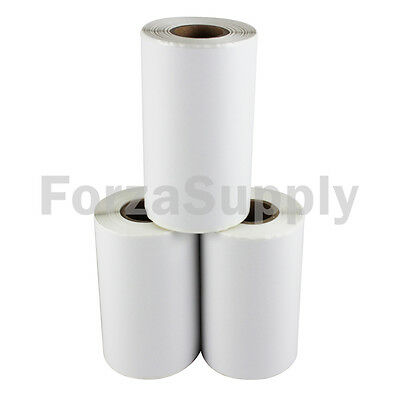 "100 4x6 ""EcoSwift"" Direct Thermal Labels Eltron Zebra - 1"" Core 100 per roll"