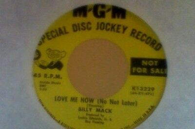 Billy Mack  Love Me Now ( No Not Later )  Mgm Dj Copy Ex/m-
