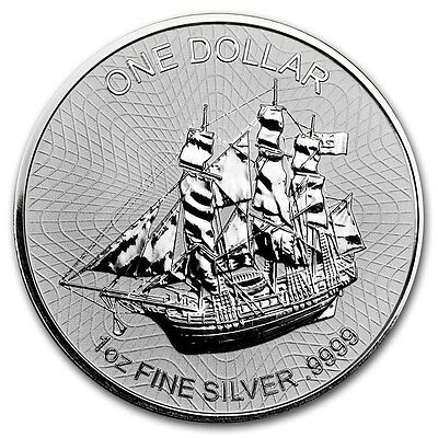 COOK ISLAND 1 Dollar Argent 1 Once Bounty Version 2 2017 1 Oz silver coin