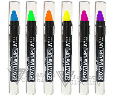 PaintGlow UV Glow Bright Neon Fluorescent Paint Eye Liner Party Clubbing Ibiza
