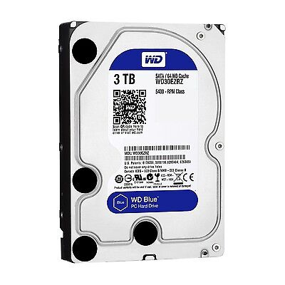 Western Digital Blue 3TB 6Gb/s HDD internal (8,9cm 3,5Zoll, SATA) WD30EZRZ