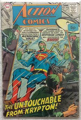 Action comics #364 (1st series ) 1968 VG- condition. 48 year old classic.