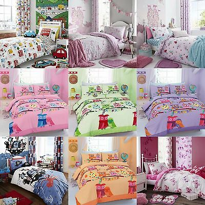 Baby Junior Boys Girls Unisex Cot Bed Duvet Quilt Cover Bedding Set