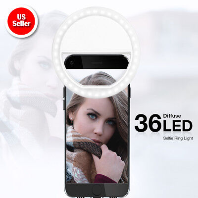 Portable Selfie Photo Ring Fill Light Clip-On Cell Phone iPhone Android