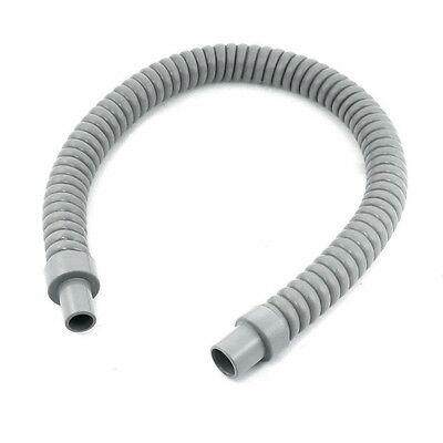 Gray Plastic Water Drain Pipe Hose 60cm Long for Air Conditioner ^