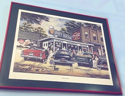 "Dairy Queen & Coca Cola Framed Print- ""Refreshing Times"" By Pamela C. Renfroe"
