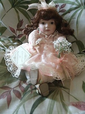 """VINTAGE COLLECTOR'S  CHOICE  Porcelain Doll by BARBARA COLLINS  w/ Music Box 11"""""""