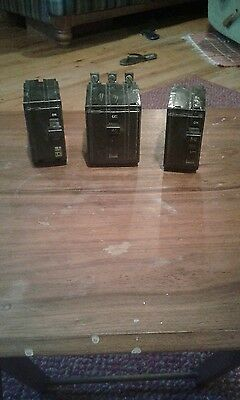 square D 60 amp 50 amp 40 amp circuit breakers