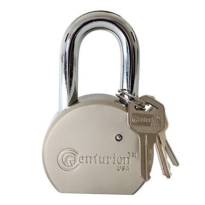 Centurion Round Body Solid Steel Padlock – 65mm Wide Body (60mm Shackle)