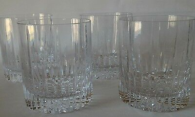 4 MIKASA ARCTIC LIGHTS Double Old Fashioned Glasses