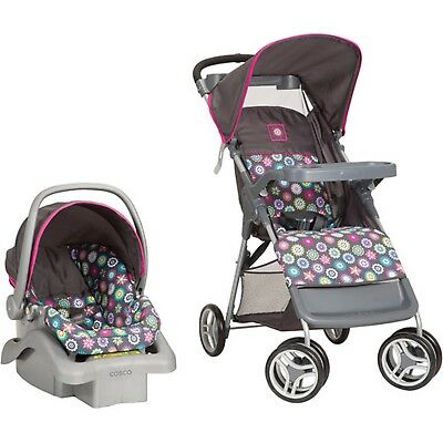 Cosco Lift & Stroll Travel System Bloom Pattern New Free Shipping