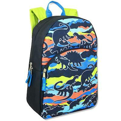 Boys School Backpack Bookbag Bag Trailmaker Super Popular Dinosaurs New