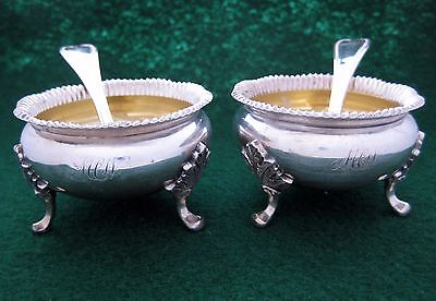 BAILEY AND CO. Cellars and Spoons set of 2 WITH GOLD WASH