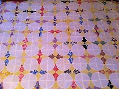 "Antique Unfinished Quilt Top 80"" X 64"""