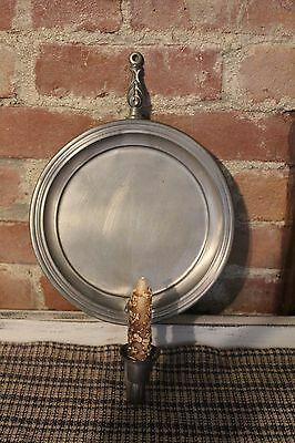 *PRiMiTivE*Very Large PEWTER Candle Wall Sconce*INTERNATIONAL PEWTER  277 98*