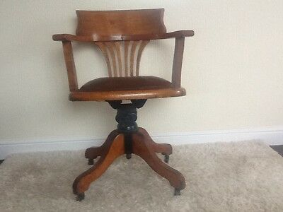 Partridge & Cooper 1920s/30s  swivel desk chair