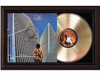 Yes - 24k Gold LP Record With Reprint Autographs In Cherry Wood Frame