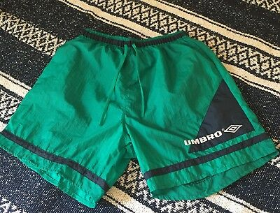 Vintage NWT Umbro Shorts Size L Blue And Green