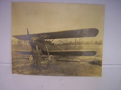 Old Black & White 9 1/2 X 7 1/2 Photo Of Biplane #4359 From 1920's - 1930's