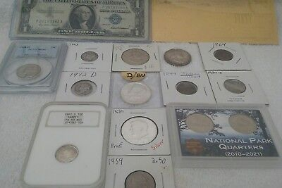 us coin lot with some silver
